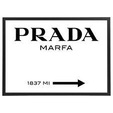 Quadro Prada Marfa con Cornice - Orizzontale - varie dimensioni vari colori