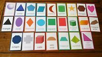 25 - 2D Shapes + 3D Shapes - Laminated -Flash Cards - EYFS KS1 KS2