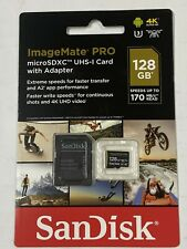 SanDisk ImageMate Pro 128 GB Micro SDXC UHS-I SD Memory Card w/ Adapter