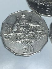 "2001 ""AUSTRALIA"" FIFTY 50 CENT COIN - CENTENARY OF FEDERATION - COAT OF ARMS"
