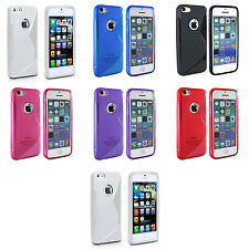 Case For Apple iPhone 4 4s S-Line Silicone Gel Skin Shockproof Phone Cover