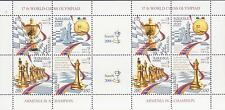ARMENIA CHESS CHAMPION OLYMPIAD 2006 ITALY ITALIA BOOKLET MNH AP584