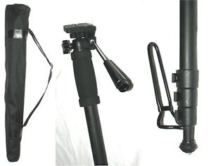 NEW FULL HEIGHT UP TO 1.75M PROFESSIONAL CAMERA MONOPOD + BLACK ZIP-UP CARRY BAG