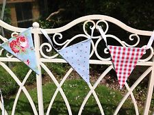 CATH KIDSTON IKEA BLUE ROSALI FABRIC BUNTING ~  rose, gingham, blue/red spots
