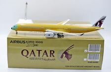 """Qatar """"Bare Metal"""" A350-1000  JC Wings  1:200 Diecast models LH2089"""