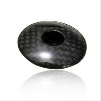 "Bike Bicycle Cycling 1-1/8"" MTB Carbon Fiber Stem Top Cap Cover HeadsetSN"