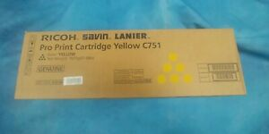Genuine Ricoh Savin Lanier 828186 C751 Toner Cartridge Yellow C651 C751 C751EX