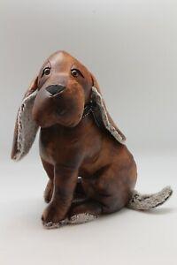Türstopper Hund Braun Kunststoff Lederoptik schwer robust 37 cm hoch günstig NEU