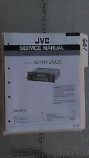 JVC ks-r11 jx ux service manual original repair book stereo car radio tape deck
