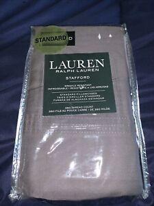 Lauren Ralph Lauren Standard Pillowcases Stafford 100% Cotton Dark Gray 350tc