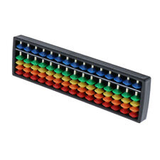 Portable Abacus Soroban 15 Rod Kids Student Math Learning School Supplies