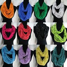 5pc floral  animal print infinity scarf double loop eternity bulk lot wholesale