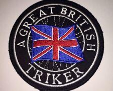 A Great British Triker Sew on Patch TriKe Badge  Biker , Chapter ,Harley MC