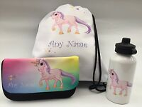 Unicorn Pencil case / Water Bottle / PE Bag - personalised - Christmas Gift