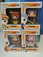 Funko POP! Dragonball Z - Series 2 - Set #106 #107 #110 #111 w pop Protectors