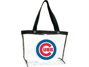 New Chicago Cubs HUGE! See All Clear TOTE Purse Hand Beach Bag  TOO CUTE  S5