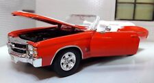 G LGB 1:24 ECHELLE 1971 CHEVROLET CHEVELLE SS 454 Convertible Welly voiture