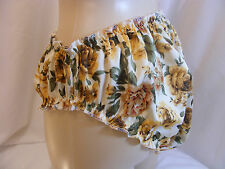 """SISSY UNIQUE SILKY FLOWER SATIN FRILLED KNICKERS PANTIES W/HIP 28""""-42"""" LINGERIE"""