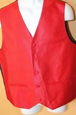 CuffsNY Formal Wear Mens Vest Red Sz M 100% Polyester NWOT A3