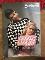 Childrens knitting patterns.jumpers.size 22-44 inch chest.DK.Sunbeam.womens patt
