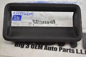 1988-1999 Chevrolet GMC C/K Truck black Tailgate HANDLE BEZEL OEM new Genuine GM