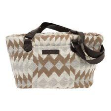 Women's Tote Bag Purse Bohemian Canvas & Leather Small Shoulder Handbag Zipper