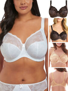 Elomi Morgan Bra Full Cup Banded Stretchy Side Support 4110 Underwired Lingerie