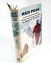 Red Peak- Malcolm Slesser  - Rare 1st ed from 1964 on Mountaineering Expedition