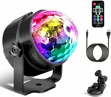 OMERIL Discokugel LED Party Lampe Musikgesteuert Disco Lichteffekte Discolicht