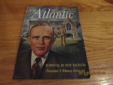 VTG APRIL 1951 THE ATLANTIC MAGAZINE A Whitney Griswold Yale University Cover