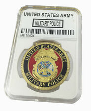 United States Army Military Police Challenge Coin with Good Plastic case