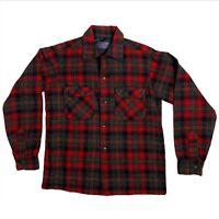 Vintage Wool Pendleton Shirt Large Long Sleeve Plaid Button Front EUC Pockets