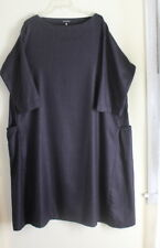 NEW Eskandar Sz 0 Exquisite Cashmere Silk Basketweave Unusual A-Line 3/4 Dress