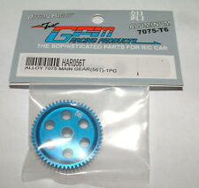 TEAM ASSOCATED RC18 RC18MT RC18B 56 TOOTH GPM BLUE ALUMINUM SPUR GEAR HAR056T