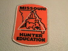 MISSOURI HUNTER EDUCATION DNR WILDLIFE RACCOON FISH TREE GUN HUNTING PATCH