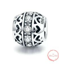 Charm Pendant W.F.Pandora Heart Ladies Pearl Round 925 Sterling Silver New
