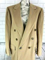 Brioni Wilkes Bashford Pure Cashmere Overcoat Topcoat Camel Men's EUR 49 US 39