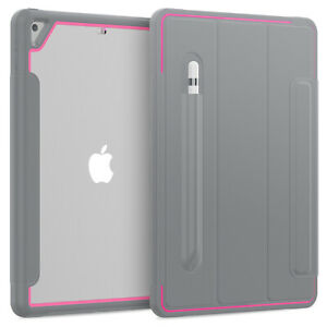 """For iPad5 6 7 Mini4 5 Air 1 2 Pro 11"""" 12.9"""" Smart Clear Back Magnetic Case Cover"""