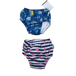 2 x iplay Baby Swim Diaper 6 months Waterproof Swimmer Reusable UPF50+