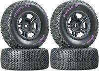 NEW Duratrax SC Tires / Wheels (4) Traxxas Slash 4X4 / HPI Blitz Front / Rear