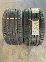 285/35/20 CONTINENTAL CONTISPORT CONTACT 5P XL (MO) X 2 NEW TYRES
