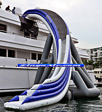 30' Commercial Inflatable Curved Yacht Water Slide Ocean Ship Boat We Finance