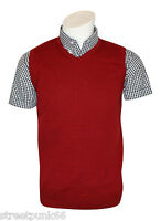 Relco Mens Red Knitted Tank Top Retro Mod Skin Skinhead Ska Northern Soul