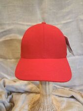 COOLON PRO Plain Solid RED Golf Ball Hat Cap~One Size~Adjustable~Curved Bill~NWT