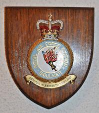 Royal Air Force Station Boulmer plaque crest shield RAF