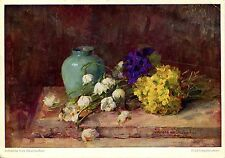Alte Kunstpostkarte - Johanna von Destouches - Frühling