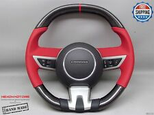 Chevrolet Camaro SS 5th Gen Flat Top Bottom Red Ring Napa Carbon Steering Wheel