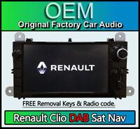 Renault Clio Sat Nav CD player stereo DAB radio USB AUX in LAN5210WR4 281155911R