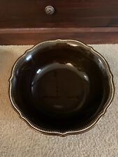 Pottery Barn Bronze Beaded Serving Bowl