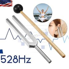 528hz Aluminium ~ L Stimmgabel Chakra Hammer Ball Diagnose + Geschenk Schlegelmä...